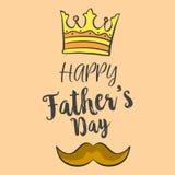 Día de padre feliz sobre fondo marrón stock de ilustración