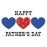 Día de padres de los corazones del pañuelo