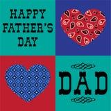 Día de padres del corazón del pañuelo