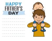 Día de padres feliz Imagen de archivo libre de regalías
