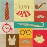 Día de padres feliz ilustración del vector