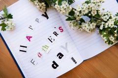 Día de padres feliz Imágenes de archivo libres de regalías