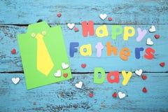 Día de padres feliz de la inscripción foto de archivo libre de regalías