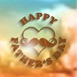 día de padres feliz, tarjeta de felicitación Fotos de archivo libres de regalías