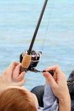 Día de pesca Imagen de archivo libre de regalías