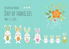 Día de plantilla de la tarjeta de las familias Fotografía de archivo libre de regalías