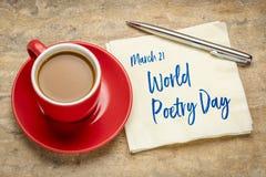 Día de poesía de mundo fotos de archivo libres de regalías