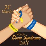 Día de Síndrome de Down del mundo Fotografía de archivo