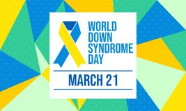 Día de Síndrome de Down del mundo - vector stock de ilustración