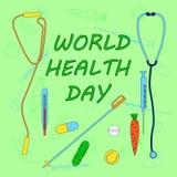 Día de salud de mundo Fotografía de archivo libre de regalías