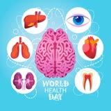 Día de salud de mundo 7 April Global Holiday Concept ilustración del vector