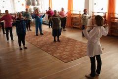 Día de salud en el centro de servicios sociales Fotografía de archivo