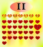 Día de San Valentín calendar Imagenes de archivo