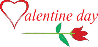 Día de San Valentín con las rosas Fotografía de archivo libre de regalías