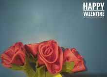 día de San Valentín de la tarjeta Fotografía de archivo