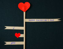 Día de San Valentín, el 14 de febrero Fotografía de archivo libre de regalías