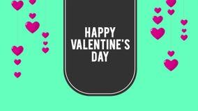 Día de San Valentín feliz con el corazón del impulso de la animación