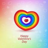 Día de San Valentín feliz de la impresión Foto de archivo libre de regalías