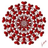 Día de San Valentín feliz, tarjeta del vector stock de ilustración