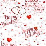 Día de San Valentín inconsútil del modelo fotos de archivo