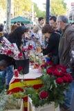 Día de Sant Jorge en Cataluña Fotos de archivo