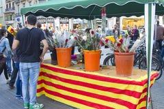 Día de Sant Jorge en Cataluña Fotografía de archivo libre de regalías