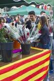 Día de Sant Jorge en Cataluña Imagen de archivo libre de regalías