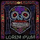 Día de Sugar Skull colorido muerto Imagen de archivo
