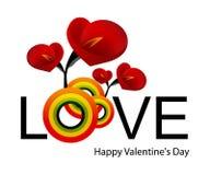 Día de tarjeta del día de San Valentín 02 Fotografía de archivo libre de regalías