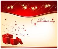 Día de tarjeta del día de San Valentín. Foto de archivo