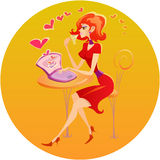 Día de tarjeta del día de San Valentín Imagen de archivo libre de regalías