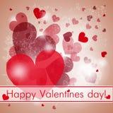 Día de tarjeta del día de San Valentín Fotos de archivo