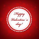 Día de tarjeta del día de San Valentín Foto de archivo libre de regalías