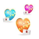 Día de tarjeta del día de San Valentín Fotografía de archivo libre de regalías