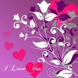 Día de tarjeta del día de San Valentín [2 elegantes] Foto de archivo