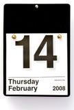 Día de tarjeta del día de San Valentín - 2008 Fotos de archivo libres de regalías
