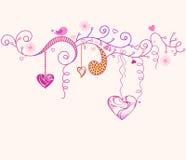 Día de tarjeta del día de San Valentín. Imagen de archivo libre de regalías