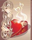 Día de tarjeta del día de San Valentín Fotos de archivo libres de regalías