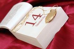 Día de tarjeta del día de San Valentín Fotografía de archivo
