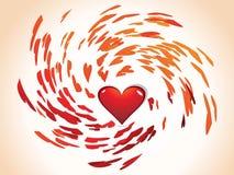 Día de tarjeta del día de San Valentín abstracto Fotos de archivo libres de regalías