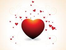 Día de tarjeta del día de San Valentín abstracto Fotografía de archivo