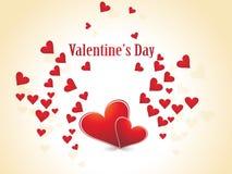 Día de tarjeta del día de San Valentín abstracto Foto de archivo libre de regalías