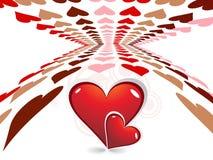 Día de tarjeta del día de San Valentín abstracto Fotos de archivo