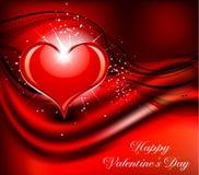 Día de tarjeta del día de San Valentín abstracto Imagen de archivo libre de regalías