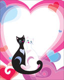 Día de tarjeta del día de San Valentín de Frame_st Fotos de archivo libres de regalías