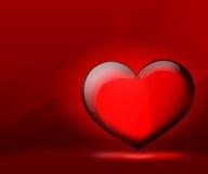 Día de tarjeta del día de San Valentín de los corazones del fondo stock de ilustración