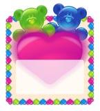 Día de tarjeta del día de San Valentín de tarjeta de felicitación Fotos de archivo