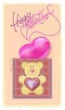 Día de tarjeta del día de San Valentín de tarjeta de felicitación Fotografía de archivo libre de regalías
