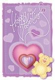 Día de tarjeta del día de San Valentín de tarjeta de felicitación Fotografía de archivo