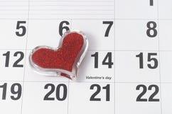 Día de tarjeta del día de San Valentín del 14 de febrero Imagenes de archivo